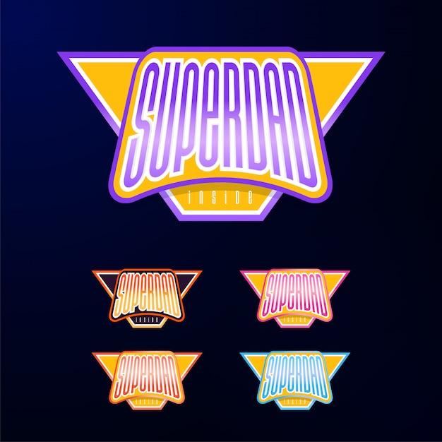 Sport emblem typography Premium Vector