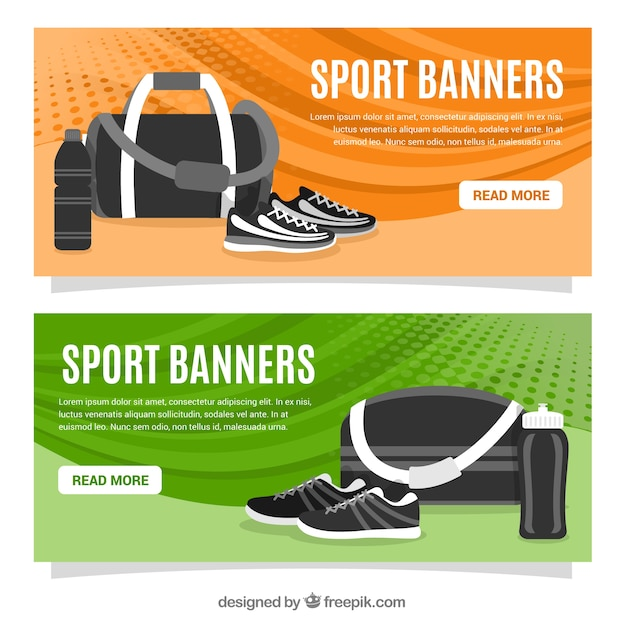 Sport equipment banners