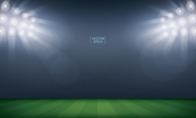 Sport field stadium for background. Premium Vector