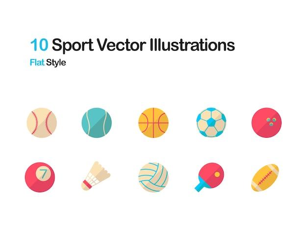 Спортивная плоская иллюстрация Premium векторы