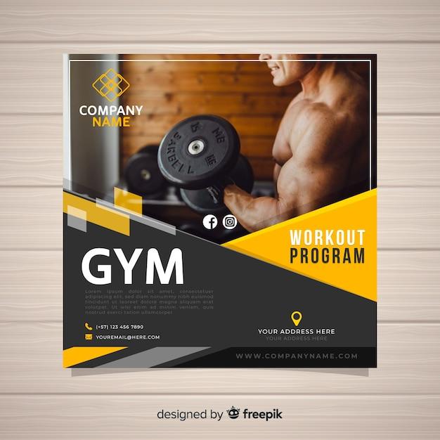 Sport flyer template Free Vector