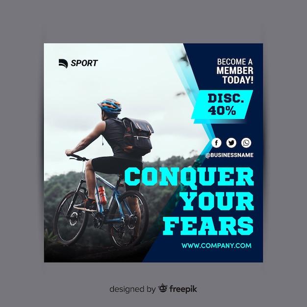 Sport flyer Free Vector
