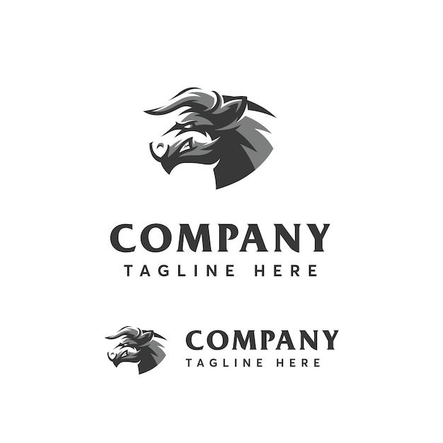 Шаблон логотипа sport head bull Premium векторы
