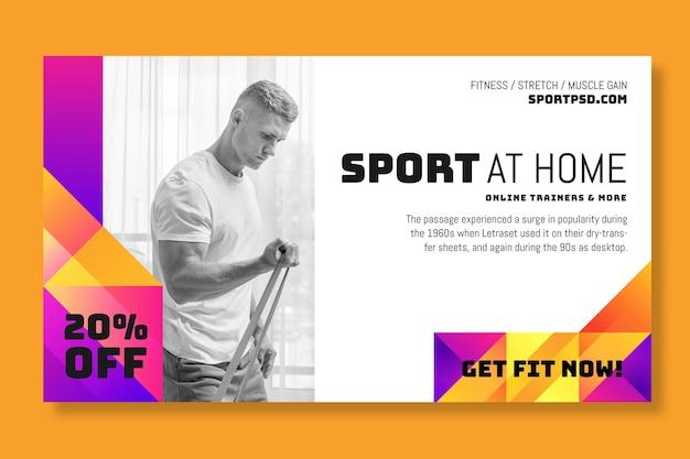 Sport a casa il concetto di banner Vettore gratuito