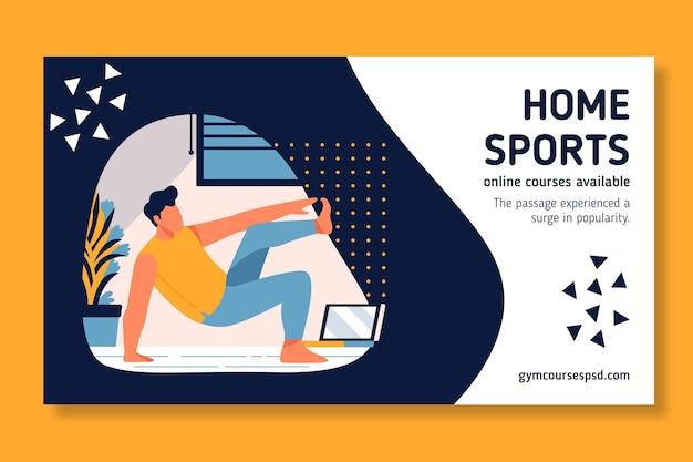 Sport a casa in stile banner Vettore gratuito