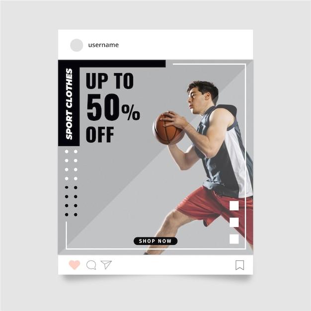 Sport instagram story Free Vector