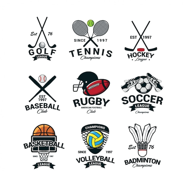Sport international logo vector Premium Vector