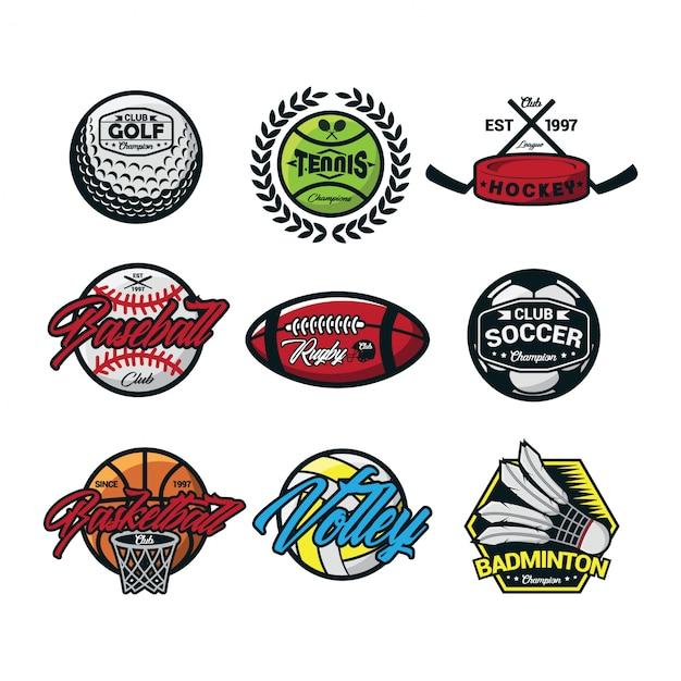 Sport international logo vector Premium Vector