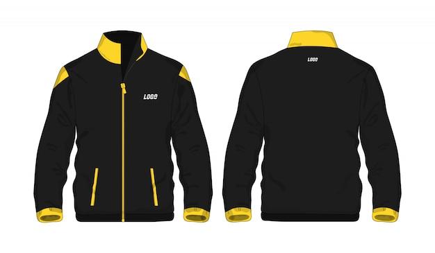 スポーツジャケットの黄色と黒のtイラスト Premiumベクター
