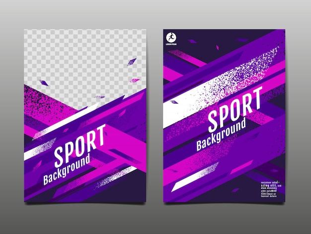 Sport layout , template , abstract Premium Vector