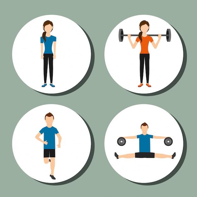 Sport lifestyle Premium Vector