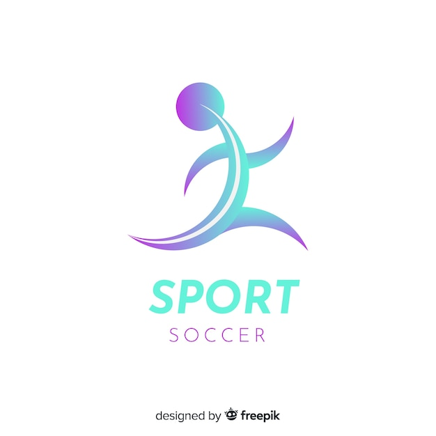 Sport logo template with abstract shape Free Vector