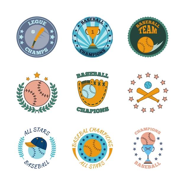 Sport logo templates collection