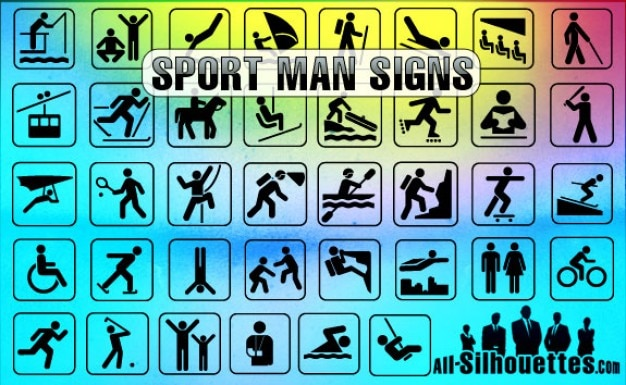 sport signs vector silhouettes sports ai savita bhabhi freepik file 52kb clipart browse episode kb format license