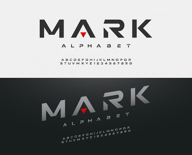 Sport modern alphabet font. typography fonts Premium Vector