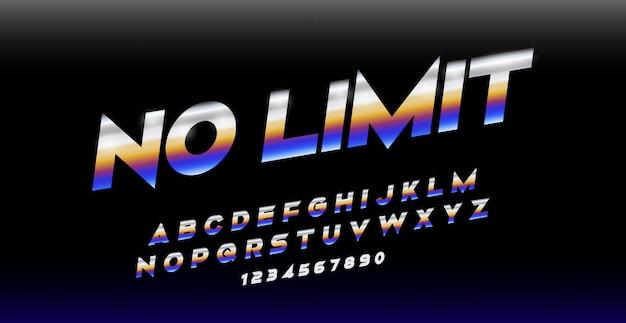Sport modern italic alphabet font. typography urban style fonts Premium Vector