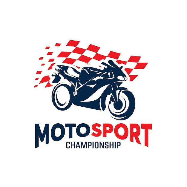 sport motorcycle championship logo design template vector premium