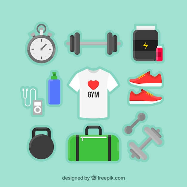 Sport objects and a t-shirt