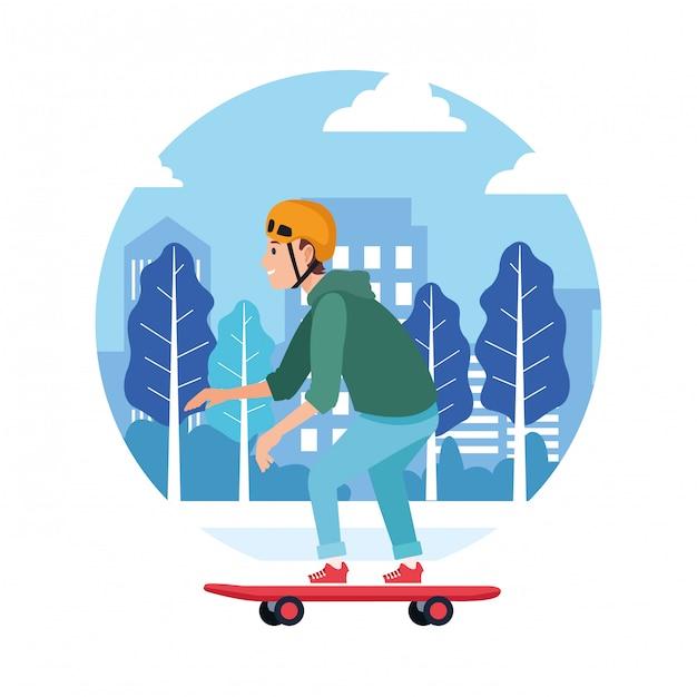 Sport outdoor sportive activity cartoon Premium Vector