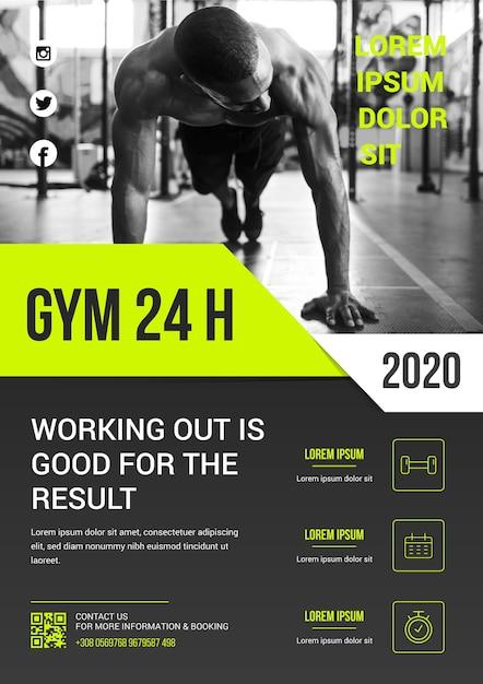 Tema modello sport poster Vettore gratuito