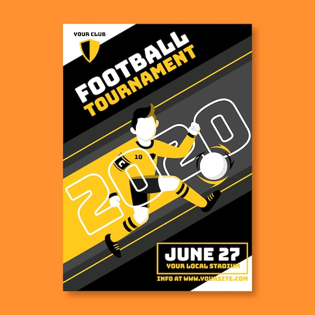 Sport poster template Free Vector