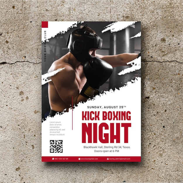 Sport poster with photo Free Vector