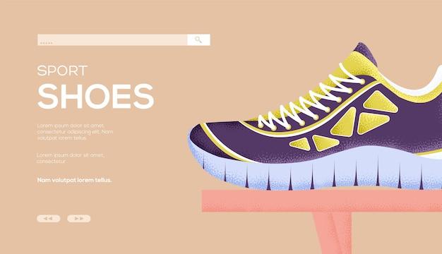 Целевая страница спортивной обуви Premium векторы