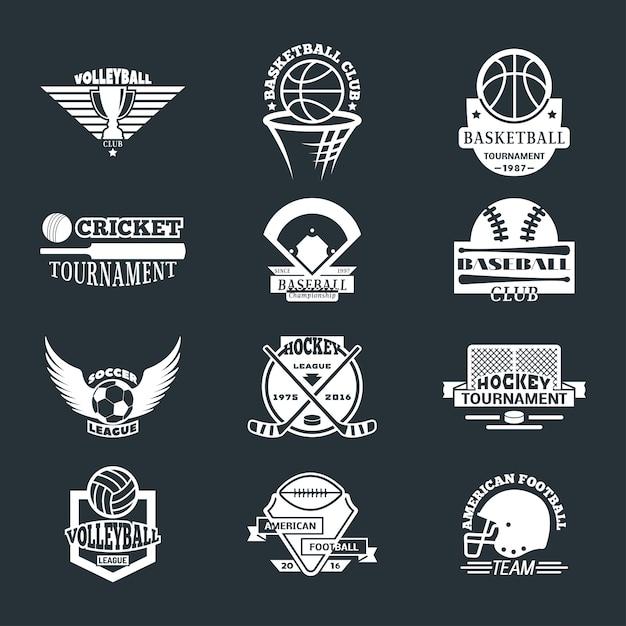 Sport team logo badge set. Premium Vector
