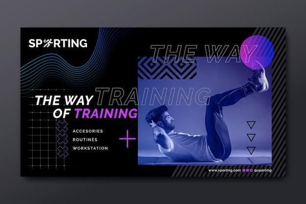 Sport & tech banner Premium Vector