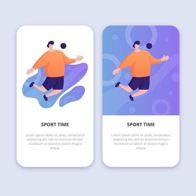 Sport time flat illustration Premium Vector