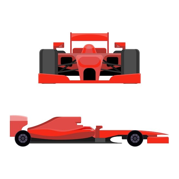 Sport vehicle for professional racing Premium Vector