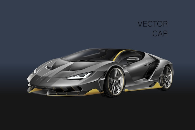 Sporting car illustration Premium Vector