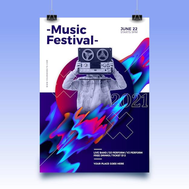 2021 년 스포츠 이벤트 포스터 (사진 포함) 무료 벡터