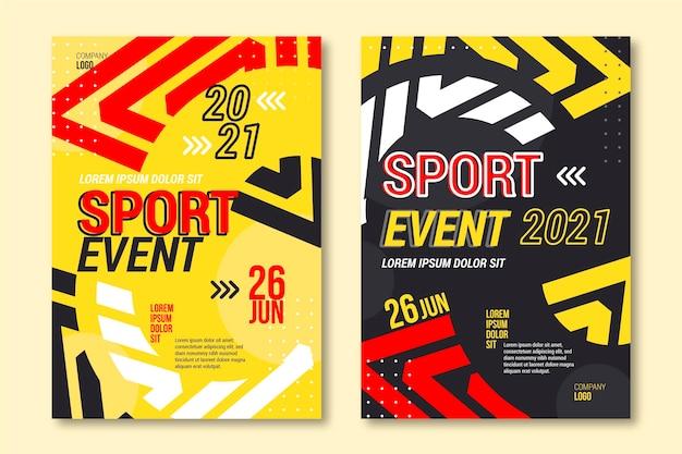 Progettazione variopinta del modello del manifesto di evento sportivo Vettore gratuito