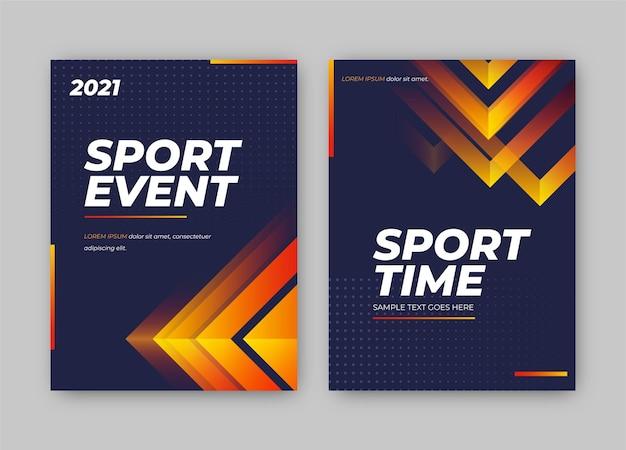 Шаблон постера спортивного мероприятия Бесплатные векторы