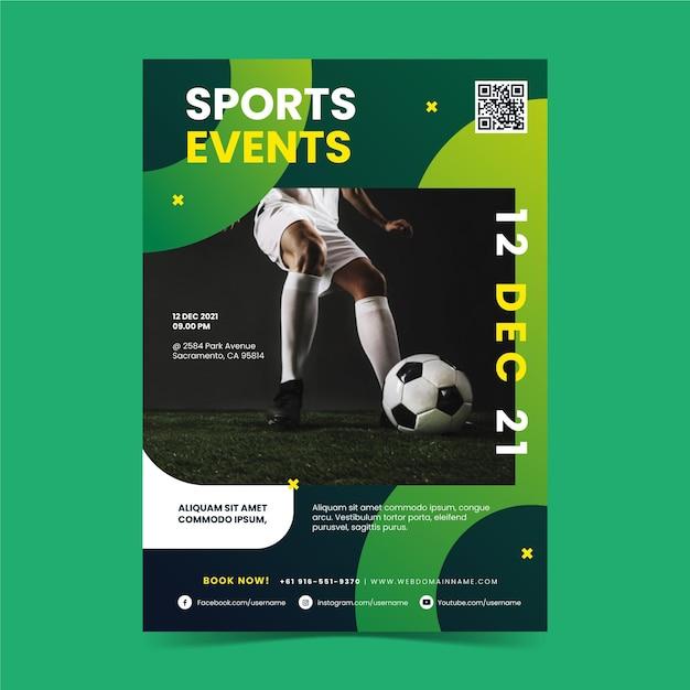 スポーツイベントポスターテーマ 無料ベクター