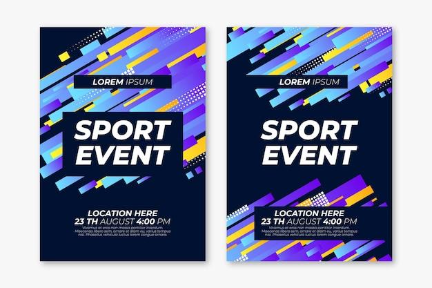 Афиша спортивного мероприятия Бесплатные векторы