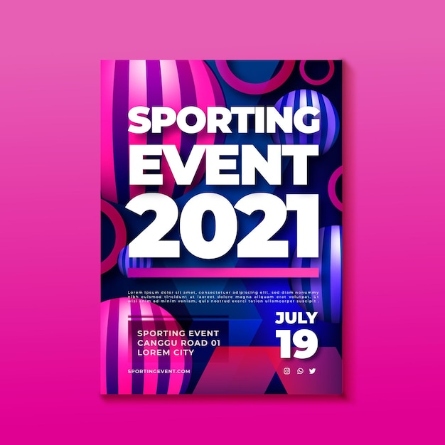 Sporting event poster Free Vector