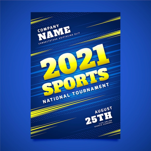 스포츠 이벤트 포스터 프리미엄 벡터
