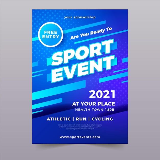Modello di evento sportivo per poster Vettore gratuito
