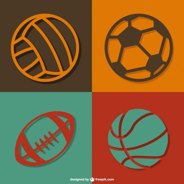 Sports balls vector free download for Softball vector free download