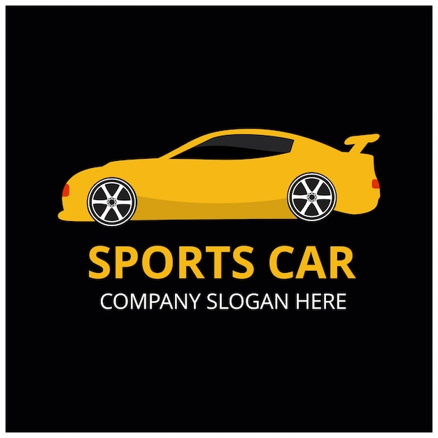 Sports car logo template
