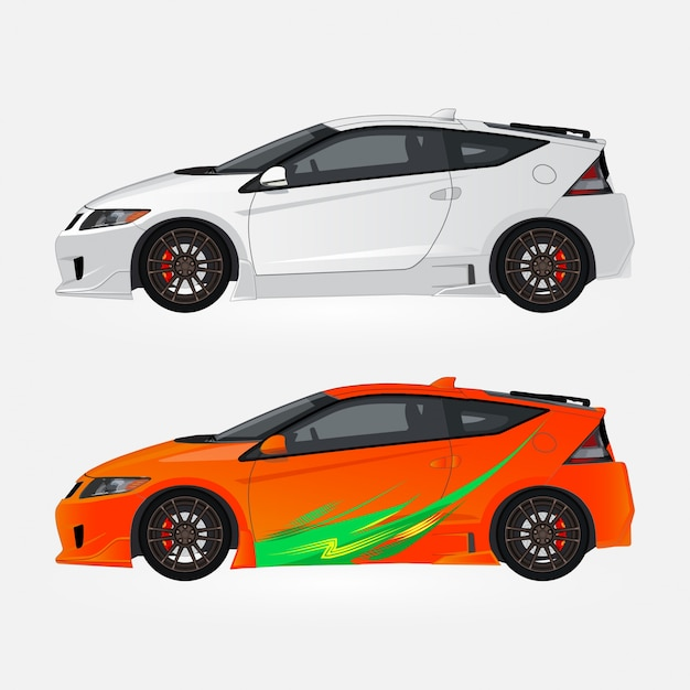 Sports Cars Collection Vector