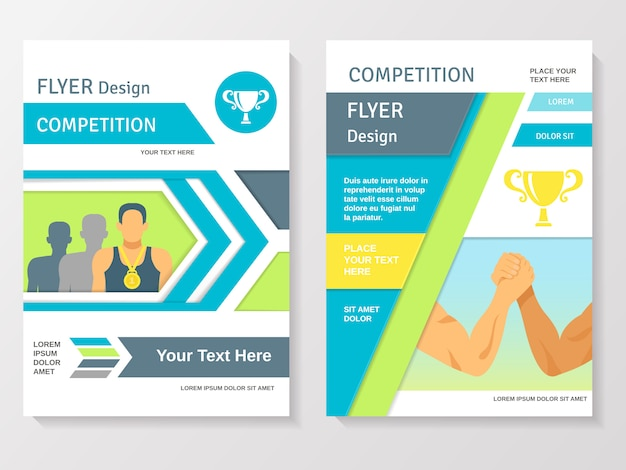 Sports competition flyer template Free Vector