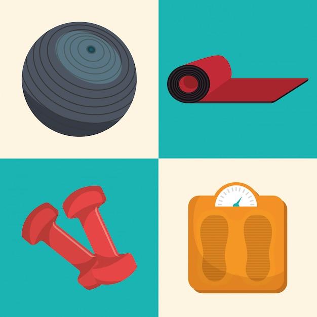 Sports fitness illustration Free Vector