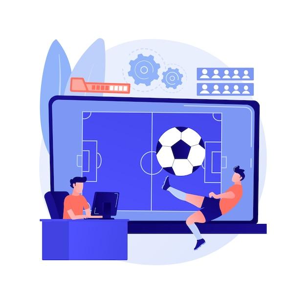 Illustrazione di concetto astratto di giochi di sport Vettore gratuito