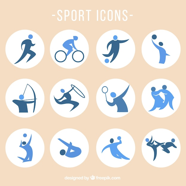 Sports icons set Free Vector