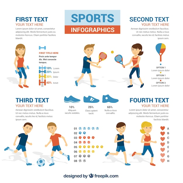 sports infographics templates sports infographic vector free download