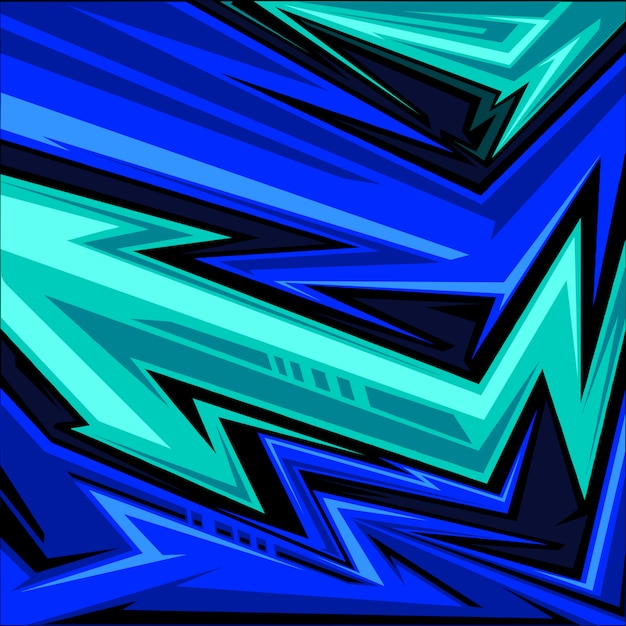 Спортивного трикотажа абстрактный стрелка линии графический рисунок Premium векторы
