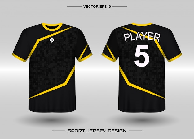 Sports jersey design template for soccer team Premium Vector
